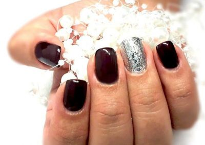 Refill mit Fullcover Chrome Glam Silver und Black Smoky Plum Metallic (Gel)
